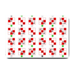 Permutations Dice Plaid Red Green Small Doormat