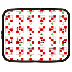Permutations Dice Plaid Red Green Netbook Case (large)