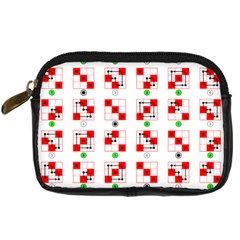 Permutations Dice Plaid Red Green Digital Camera Cases