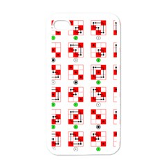Permutations Dice Plaid Red Green Apple Iphone 4 Case (white)