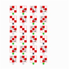 Permutations Dice Plaid Red Green Small Garden Flag (two Sides)