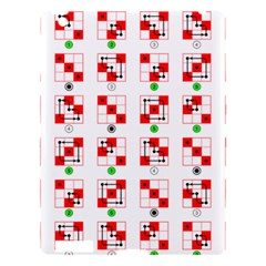 Permutations Dice Plaid Red Green Apple Ipad 3/4 Hardshell Case by Alisyart