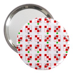 Permutations Dice Plaid Red Green 3  Handbag Mirrors