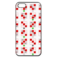 Permutations Dice Plaid Red Green Apple Iphone 5 Seamless Case (black)