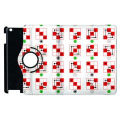 Permutations Dice Plaid Red Green Apple Ipad 2 Flip 360 Case