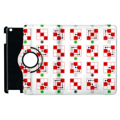 Permutations Dice Plaid Red Green Apple Ipad 3/4 Flip 360 Case by Alisyart
