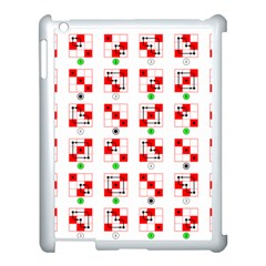 Permutations Dice Plaid Red Green Apple Ipad 3/4 Case (white)
