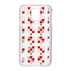 Permutations Dice Plaid Red Green Samsung Galaxy S5 Case (white)