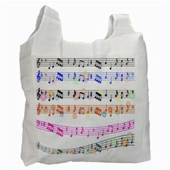 Notes Tone Music Rainbow Color Black Orange Pink Grey Recycle Bag (two Side)  by Alisyart
