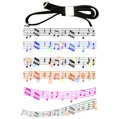 Notes Tone Music Rainbow Color Black Orange Pink Grey Shoulder Sling Bags