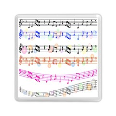 Notes Tone Music Rainbow Color Black Orange Pink Grey Memory Card Reader (square)  by Alisyart