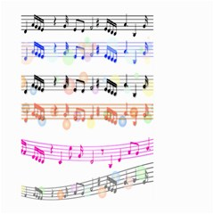 Notes Tone Music Rainbow Color Black Orange Pink Grey Large Garden Flag (two Sides) by Alisyart