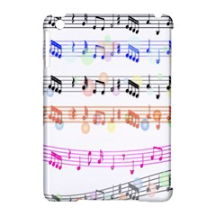 Notes Tone Music Rainbow Color Black Orange Pink Grey Apple Ipad Mini Hardshell Case (compatible With Smart Cover)