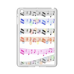 Notes Tone Music Rainbow Color Black Orange Pink Grey Ipad Mini 2 Enamel Coated Cases by Alisyart