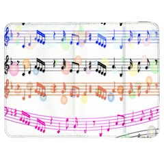 Notes Tone Music Rainbow Color Black Orange Pink Grey Samsung Galaxy Tab 7  P1000 Flip Case
