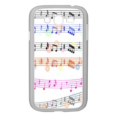 Notes Tone Music Rainbow Color Black Orange Pink Grey Samsung Galaxy Grand Duos I9082 Case (white)