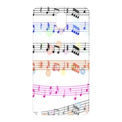 Notes Tone Music Rainbow Color Black Orange Pink Grey Samsung Galaxy Note 3 N9005 Hardshell Back Case