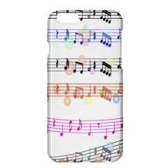 Notes Tone Music Rainbow Color Black Orange Pink Grey Apple Iphone 6 Plus/6s Plus Hardshell Case