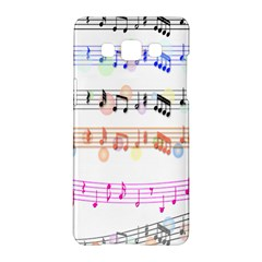 Notes Tone Music Rainbow Color Black Orange Pink Grey Samsung Galaxy A5 Hardshell Case