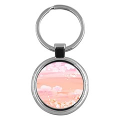 Season Flower Floral Pink Key Chains (round)  by Alisyart