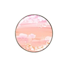 Season Flower Floral Pink Hat Clip Ball Marker (10 Pack) by Alisyart