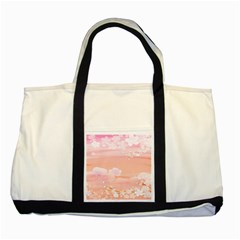 Season Flower Floral Pink Two Tone Tote Bag