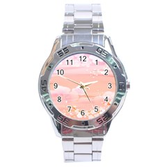 Season Flower Floral Pink Stainless Steel Analogue Watch