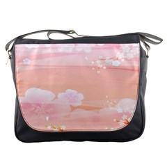 Season Flower Floral Pink Messenger Bags by Alisyart