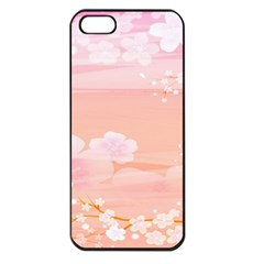 Season Flower Floral Pink Apple Iphone 5 Seamless Case (black)