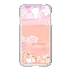 Season Flower Floral Pink Samsung Galaxy S4 I9500/ I9505 Case (white) by Alisyart