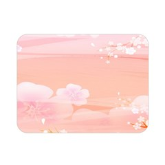 Season Flower Floral Pink Double Sided Flano Blanket (mini)  by Alisyart