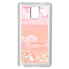 Season Flower Floral Pink Samsung Galaxy Note 4 Case (white) by Alisyart