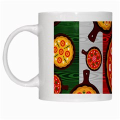 Pizza Italia Beef Flag White Mugs