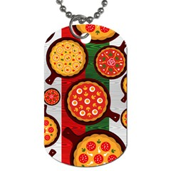 Pizza Italia Beef Flag Dog Tag (one Side) by Alisyart
