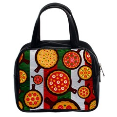 Pizza Italia Beef Flag Classic Handbags (2 Sides)