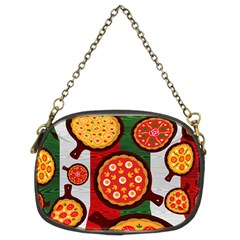 Pizza Italia Beef Flag Chain Purses (two Sides)