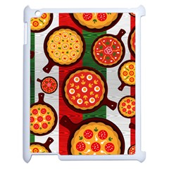 Pizza Italia Beef Flag Apple Ipad 2 Case (white) by Alisyart