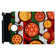 Pizza Italia Beef Flag Apple Ipad 2 Flip 360 Case by Alisyart