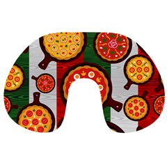 Pizza Italia Beef Flag Travel Neck Pillows by Alisyart