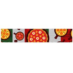 Pizza Italia Beef Flag Flano Scarf (large) by Alisyart