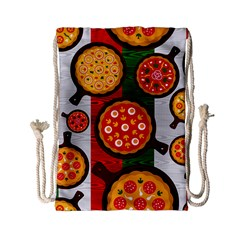 Pizza Italia Beef Flag Drawstring Bag (small) by Alisyart
