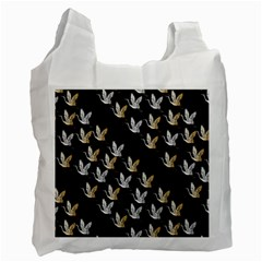 Goose Swan Gold White Black Fly Recycle Bag (one Side)