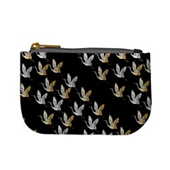 Goose Swan Gold White Black Fly Mini Coin Purses