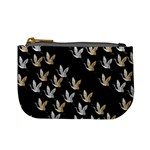 Goose Swan Gold White Black Fly Mini Coin Purses Front