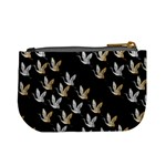 Goose Swan Gold White Black Fly Mini Coin Purses Back