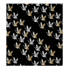 Goose Swan Gold White Black Fly Shower Curtain 66  X 72  (large)