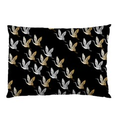 Goose Swan Gold White Black Fly Pillow Case (two Sides)