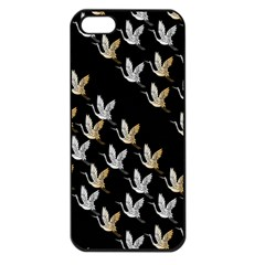 Goose Swan Gold White Black Fly Apple Iphone 5 Seamless Case (black)
