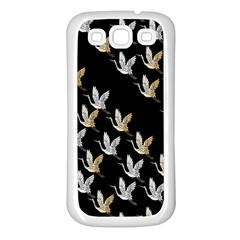 Goose Swan Gold White Black Fly Samsung Galaxy S3 Back Case (white)