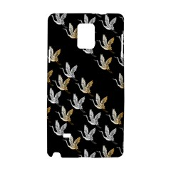 Goose Swan Gold White Black Fly Samsung Galaxy Note 4 Hardshell Case